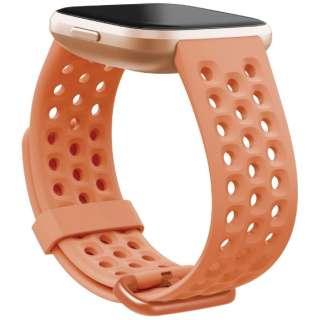 Fitbit Versaシリーズ専用 スポーツバンド Coral Lサイズ FB171SBTAL コーラル
