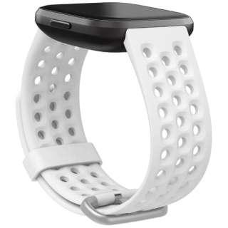 Fitbit Versaシリーズ専用 スポーツバンド Frost White Lサイズ FB171SBWTL フロストホワイト