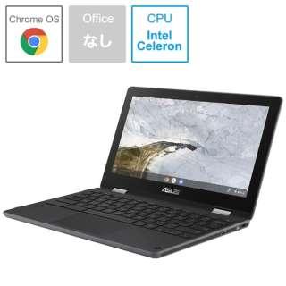C214MA-BW0028 ノートパソコン Chromebook Flip ダークグレー [11.6型 /intel Celeron /eMMC:32GB /メモリ:4GB /2019年9月モデル]