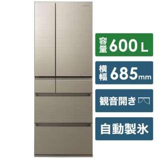 NR-F605HPX-N 冷蔵庫 HPXタイプ アルベロゴールド [6ドア /観音開きタイプ /600L] 《基本設置料金セット》