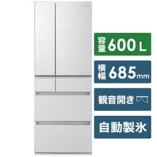 NR-F605HPX-W 冷蔵庫 HPXタイプ アルベロホワイト [6ドア /観音開きタイプ /600L] 《基本設置料金セット》