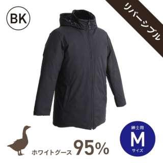 ホワイトグースダウン95%使用ダウンジャケット リバーシブルモデル (男性用/Mサイズ/BK)