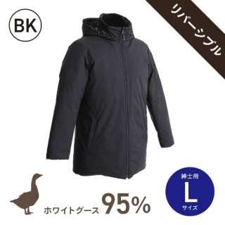 ホワイトグースダウン95%使用ダウンジャケット リバーシブルモデル (男性用/Lサイズ/BK)