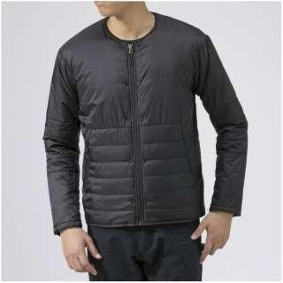 メンズ ジャケット ブレスサーモサーモブリッドノーカラージャケット(Lサイズ/ブラック) B2ME9558