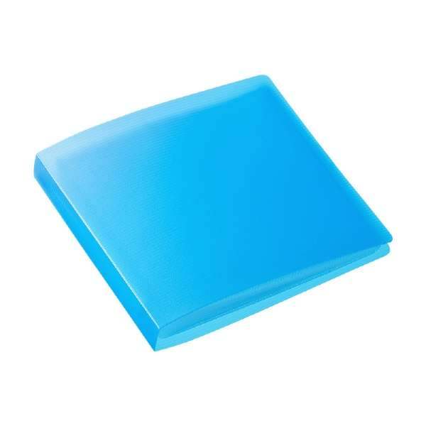 DVD・CDファイルケース(12枚収納) FCD-FL12BL ブルー