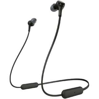 ブルートゥースイヤホン EXTRA BASS ブラック WI-XB400 BZ [リモコン・マイク対応 /ネックバンド /Bluetooth]