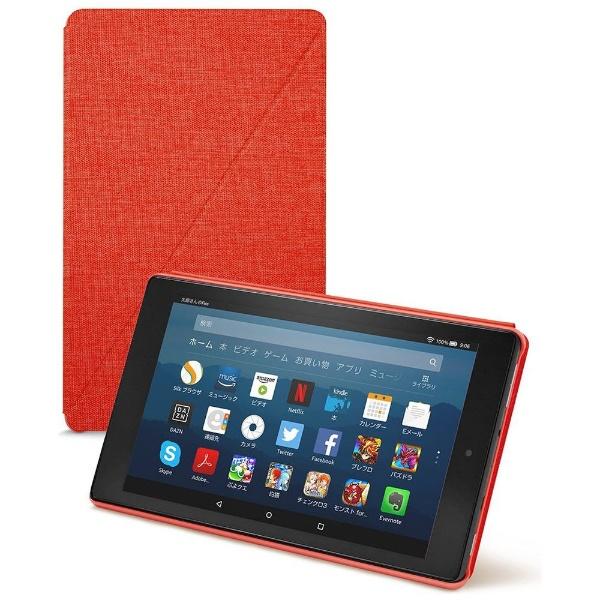 Amazon純正 Fire HD 8 タブレット (第7世代、第8世代) 用カバー B01MSPQ49S パンチレッド