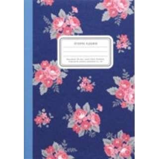 B6花柄ノート ネイビーブルー CF158NB