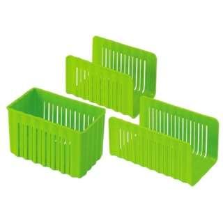 冷凍庫用収納3点セット グリーン CCBS1 グリーン