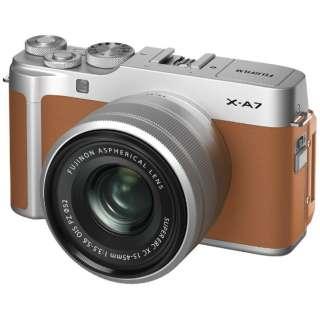 X-A7LK-CA ミラーレス一眼カメラ レンズキット FX-A7LK-CA キャメル [ズームレンズ]
