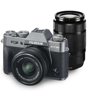 X-T30WZLK-CS Mirrorless interchangeable-lens camera Cameras double zoom lens kit FX-T30WZLK-CS charcoal silver [zoom lens + zoom lens]