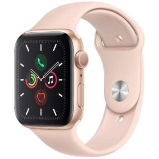 Apple Watch Series 5(GPSモデル)- 44mm ゴールドアルミニウムケースとスポーツバンド ピンクサンド - S/M & M/L MWVE2J/A [Series5 /44mm /アルミニウム /スポーツバンド /ゴールド /GPS]
