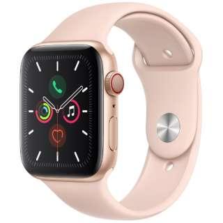 Apple Watch Series 5(GPS + Cellularモデル)- 44mm ゴールドアルミニウムケースとスポーツバンド ピンクサンド - S/M & M/L MWWD2J/A [Series5 /44mm /アルミニウム /スポーツバンド /ゴールド /GPS]