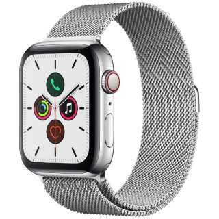 Apple Watch Series 5(GPS + Cellularモデル)- 44mm ステンレススチールケースとミラネーゼループ シルバー MWWG2J/A [Series5 /44mm /ステレンススチール /ミラネーゼループ /GPS]