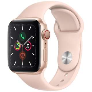 Apple Watch Series 5(GPS + Cellularモデル)- 40mm ゴールドアルミニウムケースとスポーツバンド ピンクサンド - S/M & M/L MWX22J/A [Series5 /40mm /アルミニウム /スポーツバンド /ゴールド /GPS]