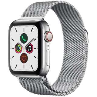 Apple Watch Series 5(GPS + Cellularモデル)- 40mm ステンレススチールケースとミラネーゼループ シルバー MWX52J/A [Series5 /40mm /ステレンススチール /ミラネーゼループ /GPS]