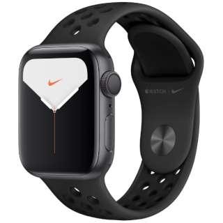 Apple Watch Nike Series 5(GPSモデル)- 40mm スペースグレイアルミニウムケースとNikeスポーツバンド アンスラサイト/ブラック - S/M & M/L MX3T2J/A [Series5 /40mm /アルミニウム /スポーツバンド /スペースグレイ /GPS]