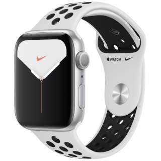 Apple Watch Nike Series 5(GPSモデル)- 44mm シルバーアルミニウムケースとNikeスポーツバンド ピュアプラチナム/ブラック - S/M & M/L MX3V2J/A [Series5 /44mm /アルミニウム /スポーツバンド /シルバー /GPS]