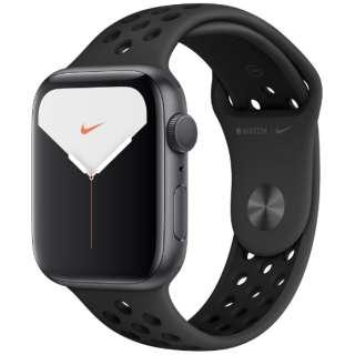 Apple Watch Nike Series 5(GPSモデル)- 44mm スペースグレイアルミニウムケースとNikeスポーツバンド アンスラサイト/ブラック - S/M & M/L MX3W2J/A [Series5 /44mm /アルミニウム /スポーツバンド /スペースグレイ /GPS]