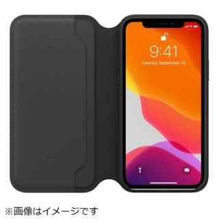 【純正】iPhone 11 Pro レザーフォリオ ブラック