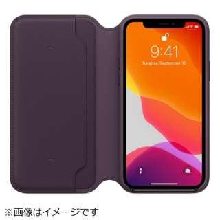【純正】iPhone 11 Pro レザーフォリオ オウバジーン