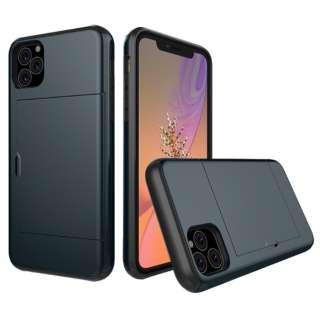 iPhone 11 6.1インチ C-TOOLS スライドカードケース ネイビー YHDSCC19C-NV