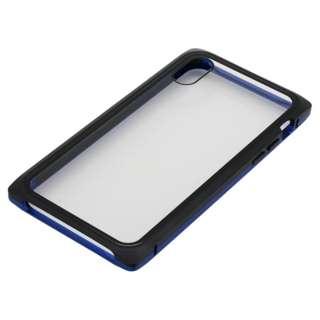 iPhoneXS・X用 マグネットアルミバンパー BMABC1814BLBK ブルーブラック