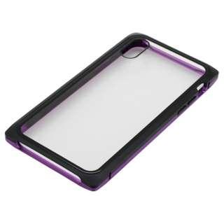 iPhoneXS・X用 マグネットアルミバンパー BMABC1814PUBK ブラック