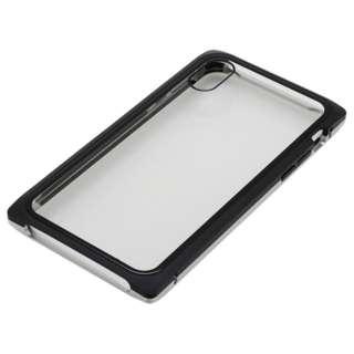 iPhoneXS・X用 マグネットアルミバンパー BMABC1814SVBK シルバーブラック