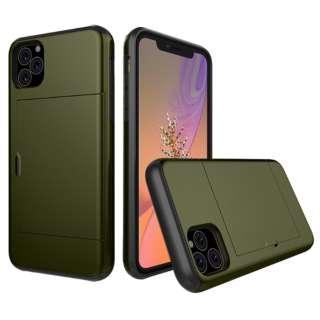 iPhone 11 6.1インチ C-TOOLS スライドカードケース ミリタリー YHDSCC19C-MG