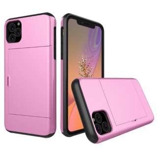 iPhone 11 6.1インチ C-TOOLS スライドカードケース ピンク YHDSCC19C-PK
