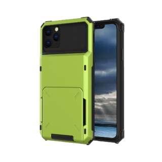 iPhone 11 6.1インチ C-TOOLS カードファイブ グリーン YHDCD519C-GR