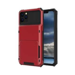 iPhone 11 6.1インチ C-TOOLS カードファイブ レッド YHDCD519C-RD