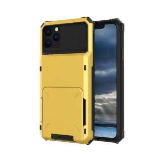 iPhone 11 6.1インチ C-TOOLS カードファイブ イエロー YHDCD519C-YW