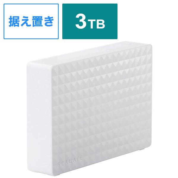エレコム SGD-MY030UWH ホワイト Seagate New Expansion MYシリーズ 外付けハードディスク USB3.2 Gen1)/3TB