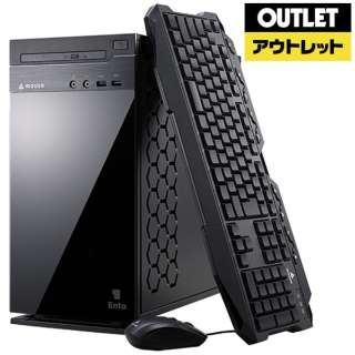 【アウトレット品】 ゲーミングデスクトップPC [Core i5・HDD 1TB・SSD 240GB・メモリ 16GB・RTX2060] ENTA-G84M16S2R26-191 【数量限定品】