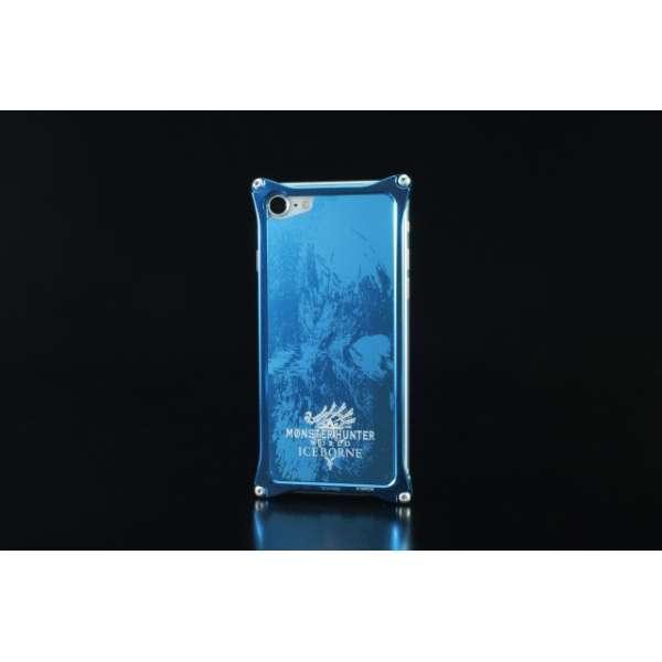 GILD design MONSTER HUNTER ソリッドバンパー+アルミパネル アイスボーン for iPhone7/8 ブルー