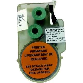 パンドウイット 熱転写ハンディプリンタ用回転ラベル 白 印字部25.4mmx12.8mm ラベル数100枚 R100X150V1C R100X150V1C