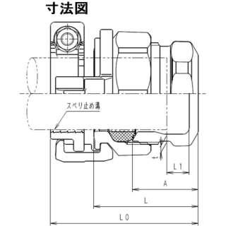 SKカワニシ ポリエチレン管用継手 SKXパイプエンドP40 SKX-END-P40