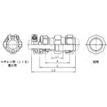 SKカワニシ 鉛管2種×ポリエチレン管用異種継手 SKX鉛管用異種ソケット P25×L25 SKX-S-P25XL25