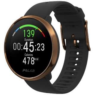POLAR Ignite ブラック/カッパー M/L [トレーニングモード時(GPSと手首での心拍計測の使用時)17時間]