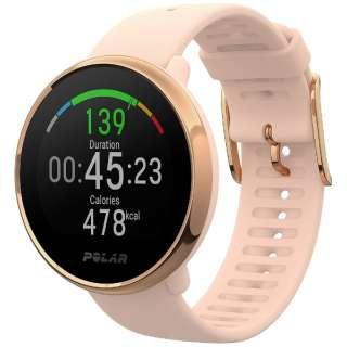 POLAR Ignite ピンク/ローズゴールド S [トレーニングモード時(GPSと手首での心拍計測の使用時)17時間]