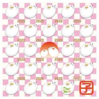 【数量限定】干支メガネ拭き(2020年子年/ピンク)3097-01