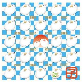 【数量限定】干支メガネ拭き(2020年子年/ブルー)3097-02