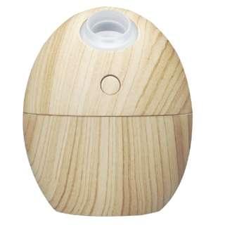 タマゴ型USB加湿器 ナチュラルウッド GH-UMSEN-NW ナチュラルウッド