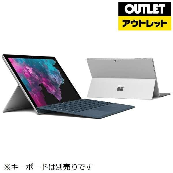 【アウトレット品】 12.3型Windowsタブレット [Office付・Core i7・SSD 512GB・メモリ 16GB] サーフェス プロ6 KJV-00027 シルバー 【外装不良品】