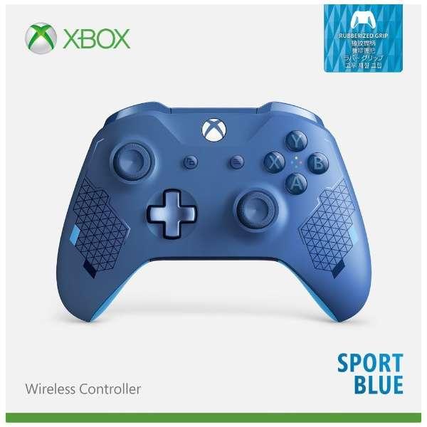 Xbox ワイヤレス コントローラー (スポーツ ブルー) WL3-00159 【Xbox One】
