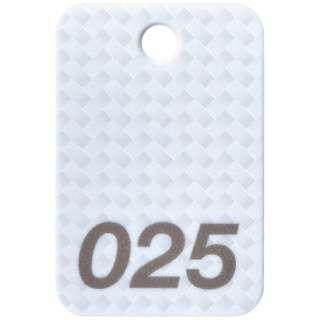 OP 番号札 四角 大 番号入り1~25 白 (25枚入) BF-80-WH