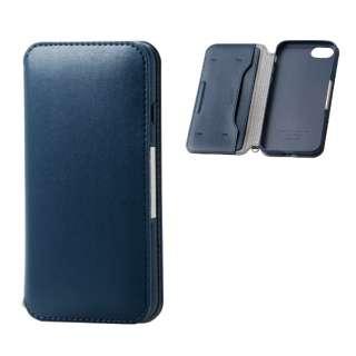 iPhone8/7 (4.7) ソフトレザーケース 磁石付 ネイビー HK-A17MPLFY2NV