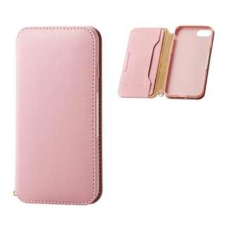 iPhone8/7 (4.7) ソフトレザーケース 磁石付 ピンク HK-A17MPLFY2PN